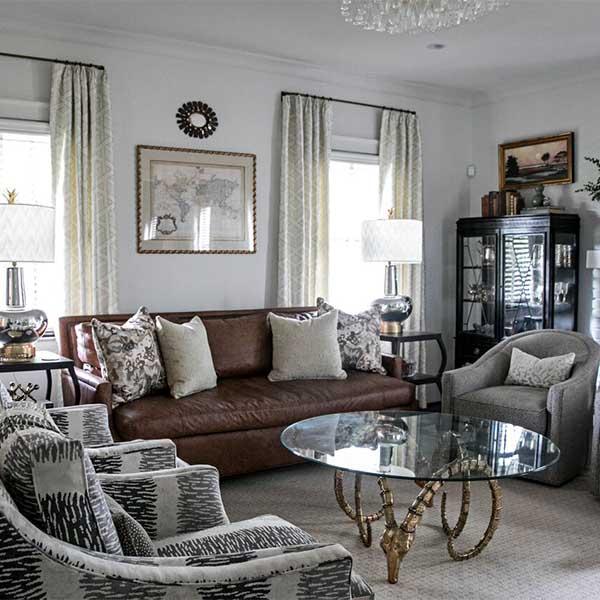 Leather Amberly Sofa