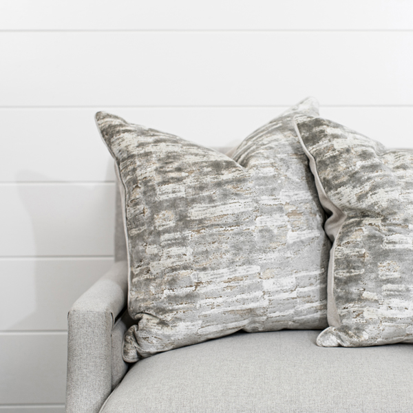 Grey and Cream Velvet Abstract